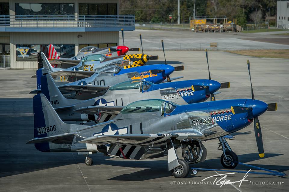 The Largest Assembly of P-51 Mustangs to Fly in Over a Decade during the 43rd Annual SUN 'n FUN International Fly-In & Expo